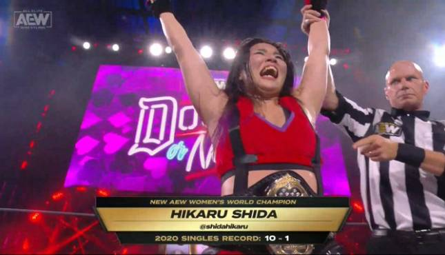 Shida Wins AEW Women's World Title At Double Or Nothing